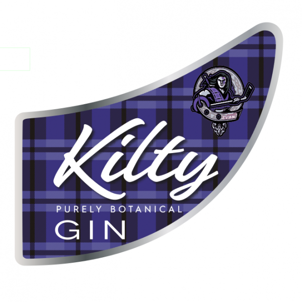 Glasgow Clan Kilty Gin main label